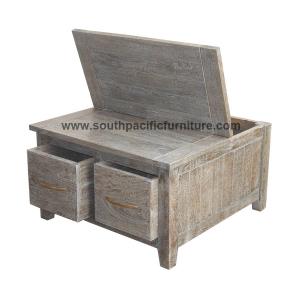 beach coffee table 2 drws | south pacific furniture | mahogany