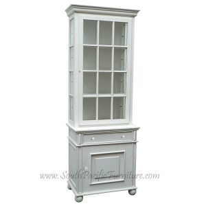 Captivating White Shabby Chic French Glass Cabinet Part 28