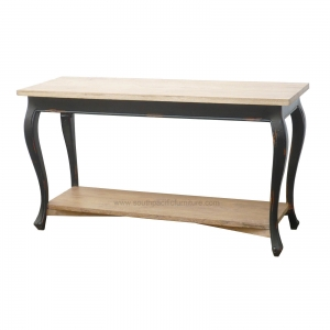 queen anne console table dark