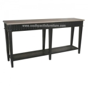 Black chic Console table TF Rattan sv
