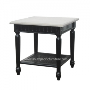 Black Shabby chic Side table