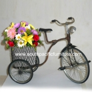 Brass craft flower bike