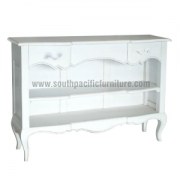 White Shabby Chic French open Sideboard