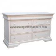 White Shabby Chic Sleigh Chest 8Drawers