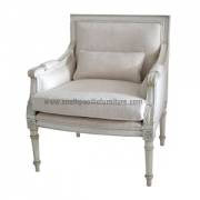 White Shabby Chic French Lounge chair